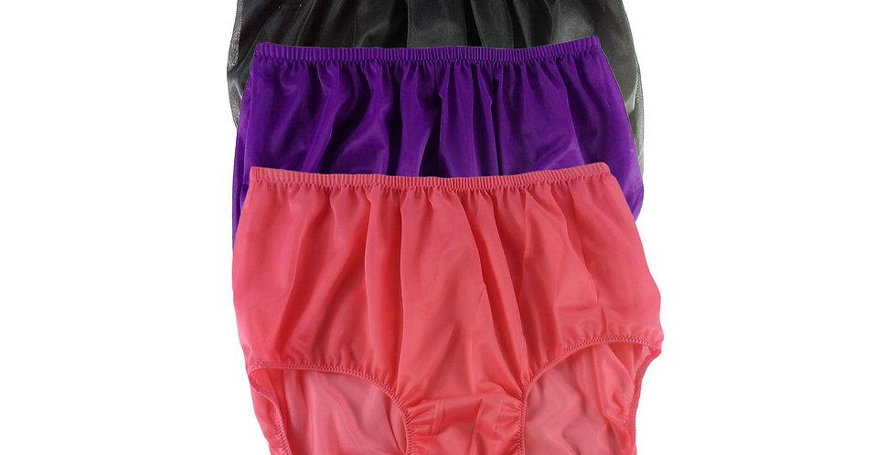 A82 Lots 3 pcs Wholesale Women New Panties Granny Briefs Nylon Knickers