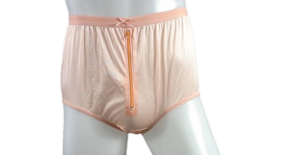 NYH03B04 orange Handmade New Panties Briefs Lace Sheer Nylon Men Women