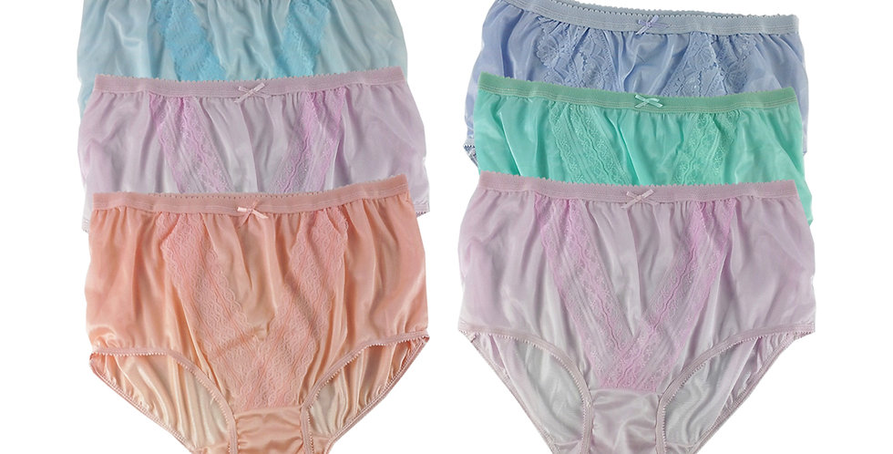 NLSG137 Lots 6 pcs Wholesale New Panties Granny Briefs Nylon Men Women