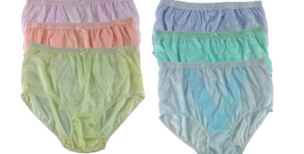 NLSG99 Lots 6 pcs Wholesale New Panties Granny Briefs Nylon Men Women