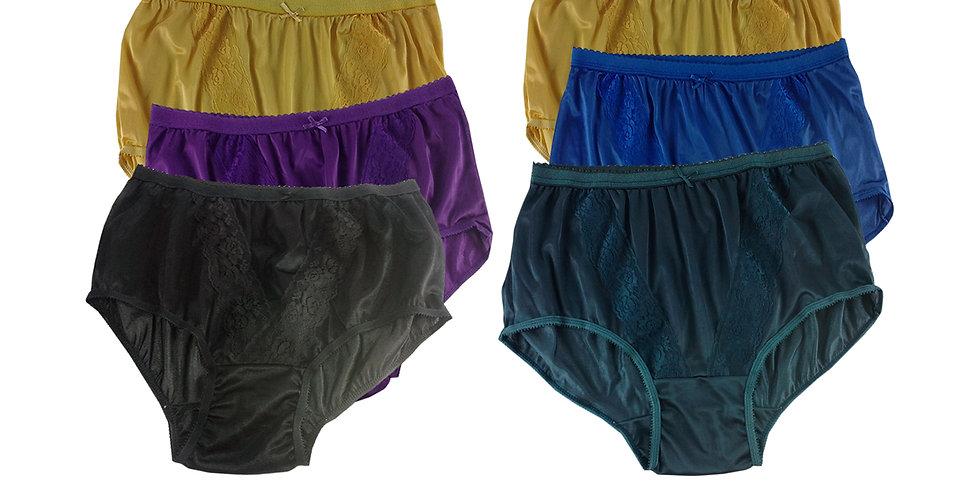 KJSJ30 Lots 6 pcs Wholesale New Panties Granny Briefs Nylon Men Women