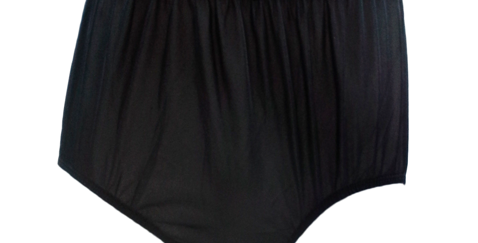 NQ12 Black New Panties Granny Briefs Nylon Underwear Men Women