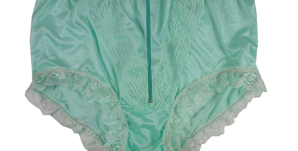 NLH19D03 Green Zipper New Panties Granny Lace Briefs Nylon Handmade  Men