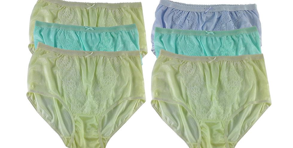 NLSG48 Lots 6 pcs Wholesale New Panties Granny Briefs Nylon Men Women