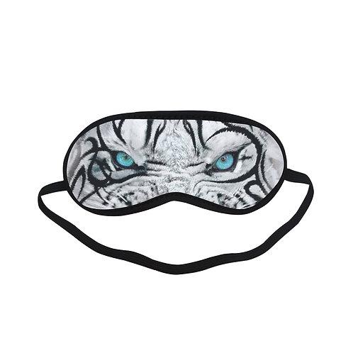 ATEM089 tribal white tiger Eye Printed Sleeping Mask