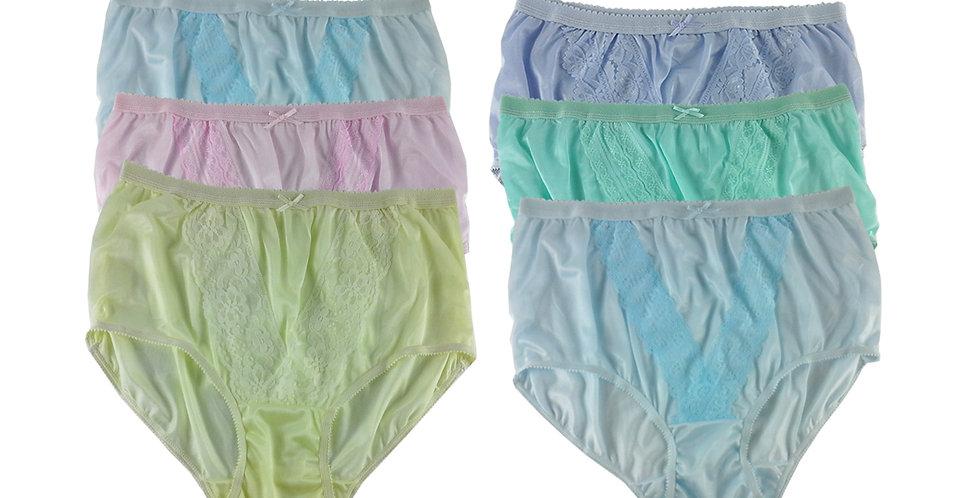 NLSG113 Lots 6 pcs Wholesale New Panties Granny Briefs Nylon Men Women