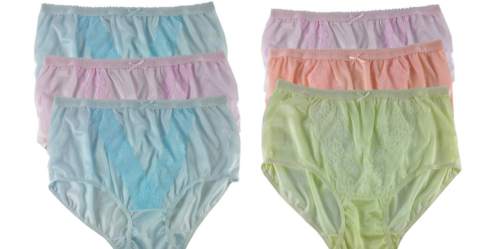 NLSG69 Lots 6 pcs Wholesale New Panties Granny Briefs Nylon Men Women