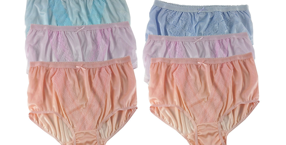 NLSG131 Lots 6 pcs Wholesale New Panties Granny Briefs Nylon Men Women