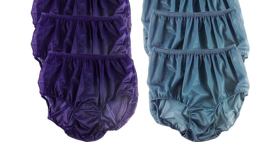 NSD45Lots 6 pcs Wholesale Women New Panties Granny Briefs Nylon Lingerie