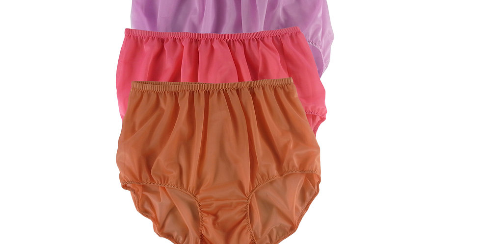 A141 Lots 3 pcs Wholesale Women New Panties Granny Briefs Nylon Knickers