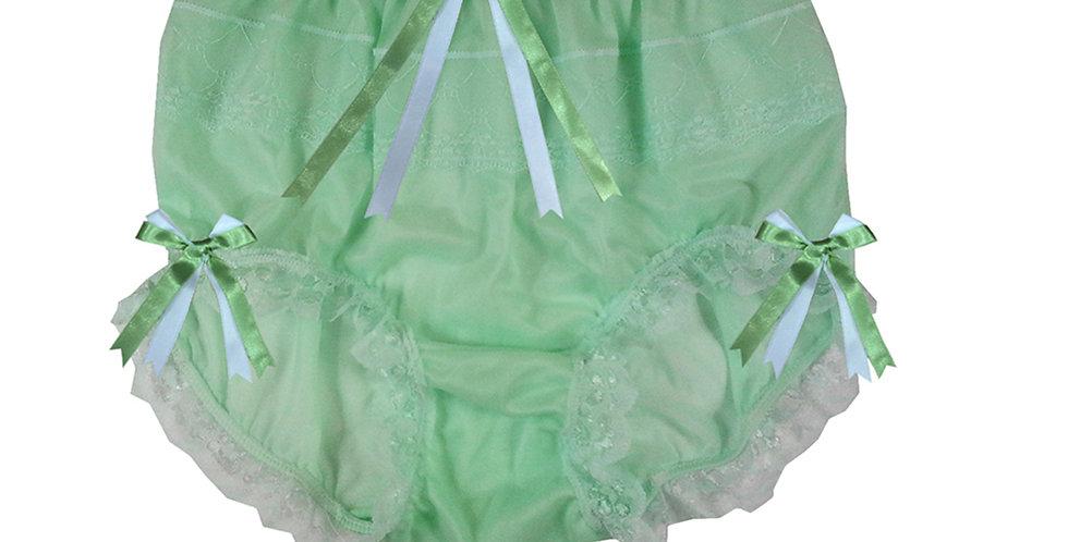 JYH18D05 Fair Green Handmade Nylon Panties Women Men Lace Knickers Briefs