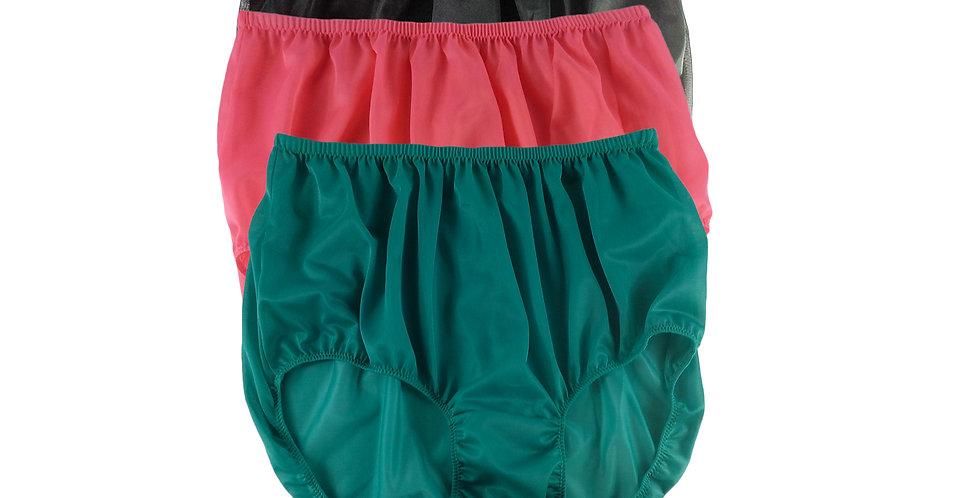 A67 Lots 3 pcs Wholesale Women New Panties Granny Briefs Nylon Knickers