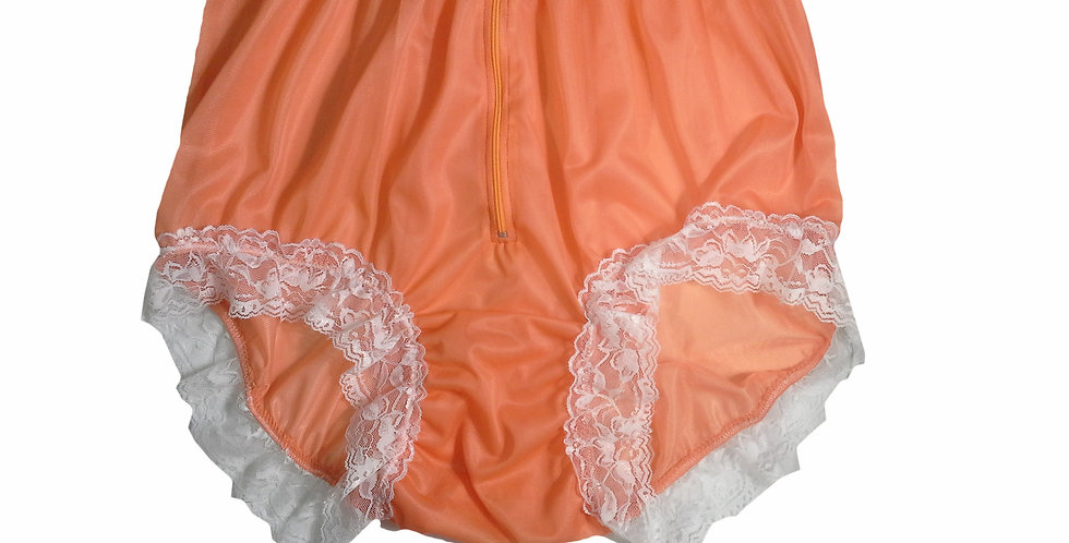 NNH09D15 Orange Handmade Panties Lace Women Men Briefs Nylon Knickers