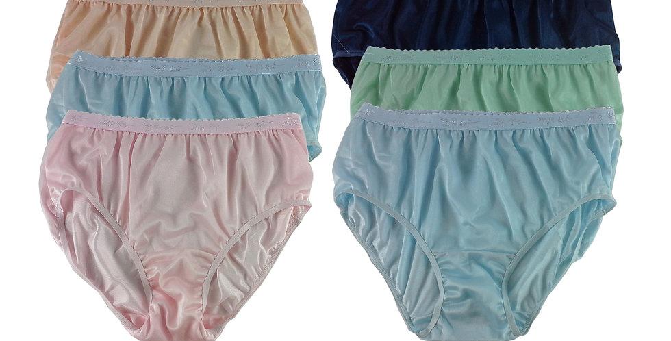 CKSL49 Lots 6 pcs Wholesale New Nylon Panties Women Undies Briefs