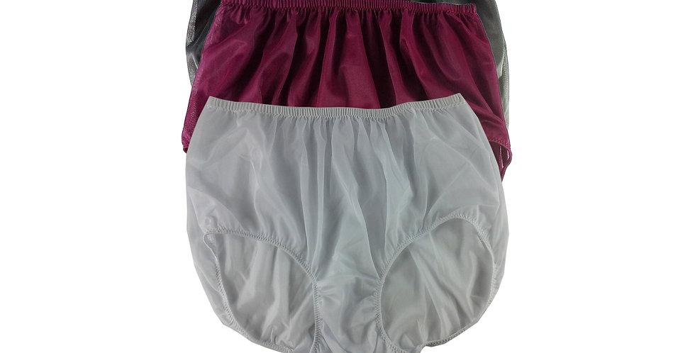 A130 Lots 3 pcs Wholesale Women New Panties Granny Briefs Nylon Knickers