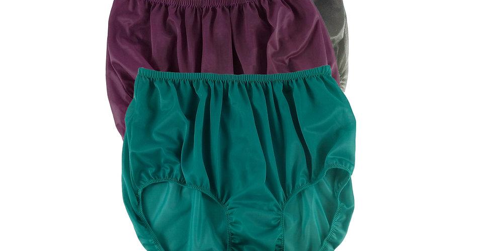 A64 Lots 3 pcs Wholesale Women New Panties Granny Briefs Nylon Knickers