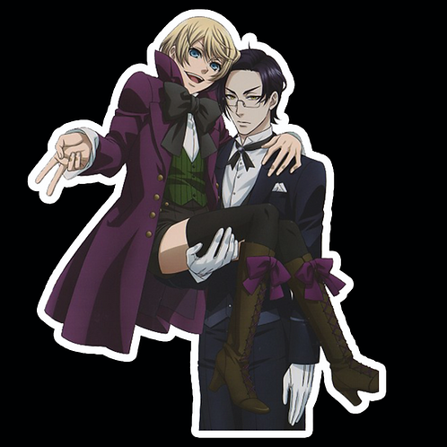 Anime Stickers Die-cut Car motorcycle laptops phone Truck wall BB43 Black Butler