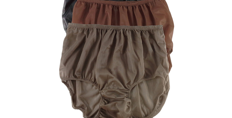 A124 Lots 3 pcs Wholesale Women New Panties Granny Briefs Nylon Knickers