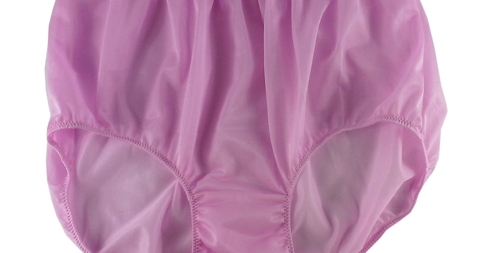 NN09 FAIR PINK Women Vintage Panties Granny HI-CUTS Briefs Sheer Nylon Knicker