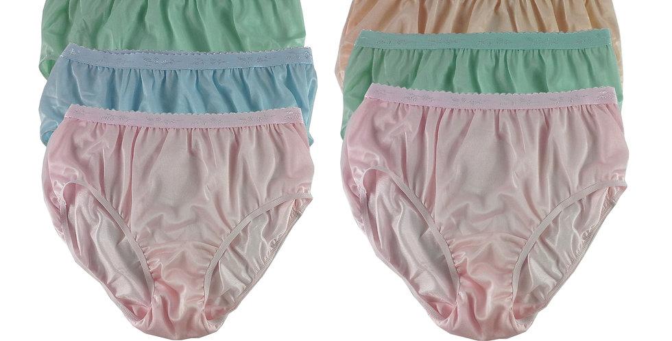 CKSL23 Lots 6 pcs Wholesale New Nylon Panties Women Undies Briefs