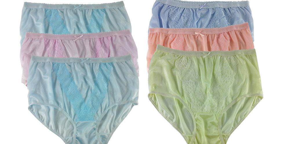 NLSG75 Lots 6 pcs Wholesale New Panties Granny Briefs Nylon Men Women