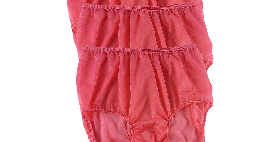 B13 Light Pink Lots 3 pcs Wholesale Women New Panties Granny Briefs Nylon