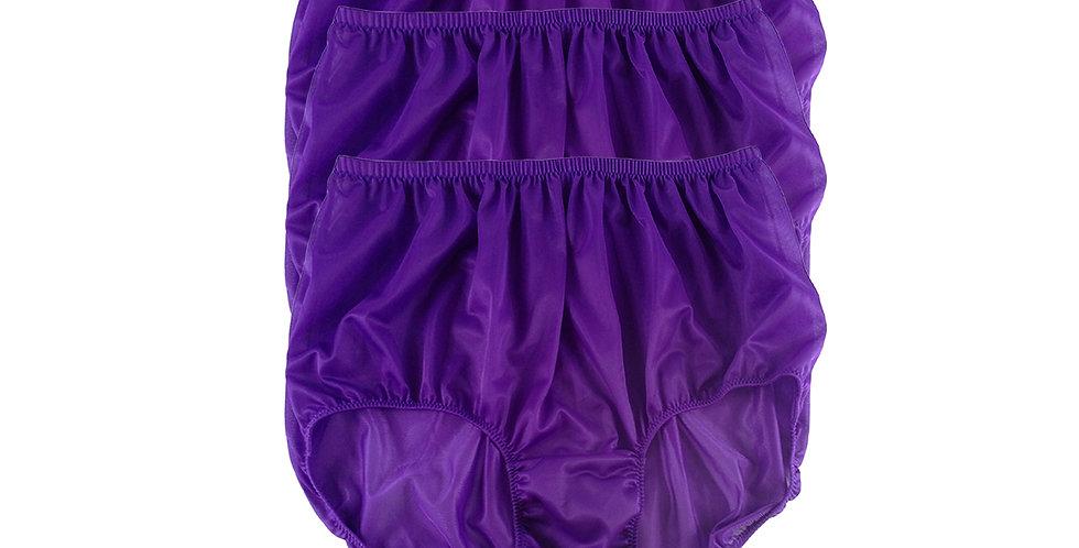 B12 Light Purple Lots 3 pcs Wholesale Women New Panties Granny Briefs Nylon