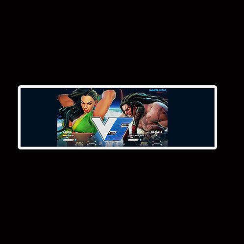 Slap Stickers Anime Stickers Decals Helmet laptops SLSF7 Street Fighter Game