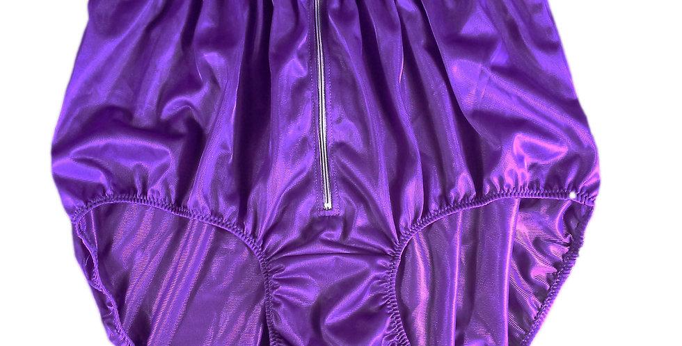 NH03D05 Light Purple Handmade Panties Lace Women Men Briefs Nylon Knickers