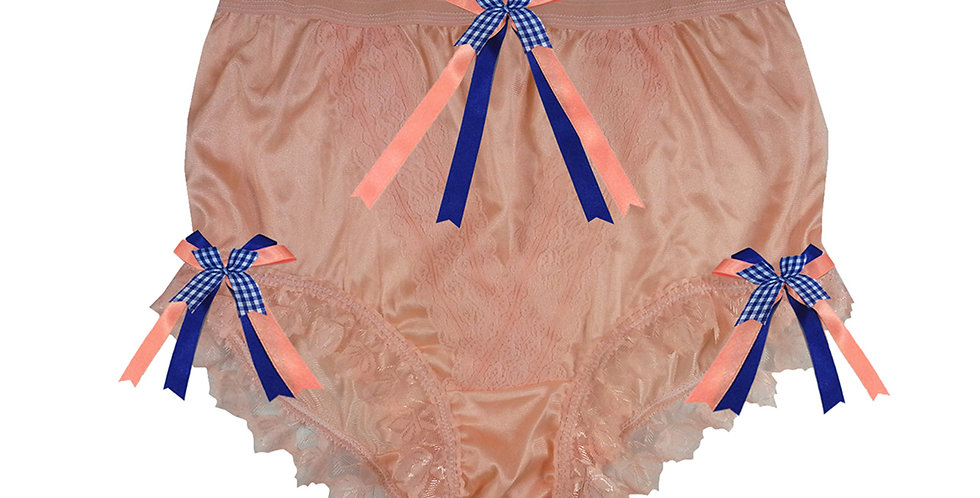 NLH18D03 Orange New Panties Granny Lace Briefs Nylon Handmade  Men
