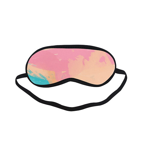 PTEM066 Pastel Watercolor Design Eye Printed Sleeping Mask