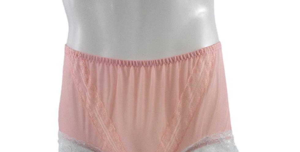 SSH01D03 Orange Handmade Nylon Panties Lace Women Granny Men Briefs