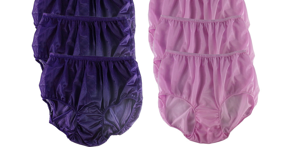 NSD32Lots 6 pcs Wholesale Women New Panties Granny Briefs Nylon Lingerie