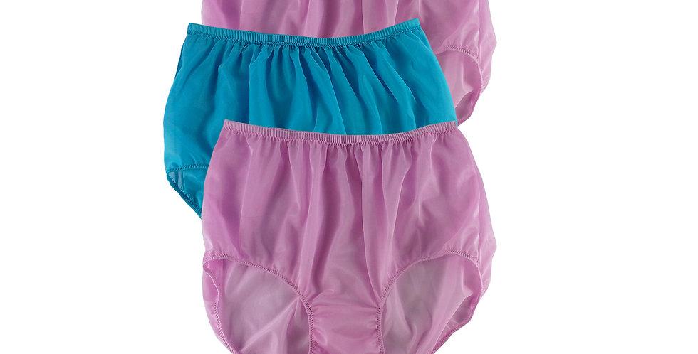 A147 Lots 3 pcs Wholesale Women New Panties Granny Briefs Nylon Knickers