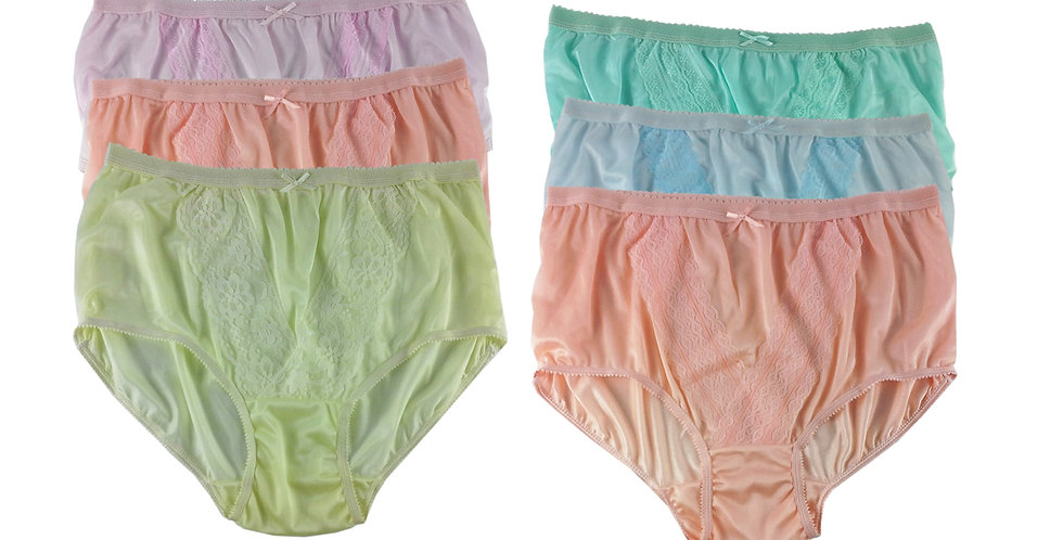 NLSG88 Lots 6 pcs Wholesale New Panties Granny Briefs Nylon Men Women