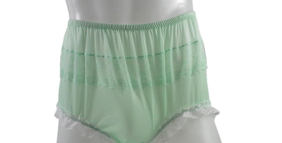 JYH02D01 Green Handmade Nylon Panties Women Men Lace Knickers Briefs