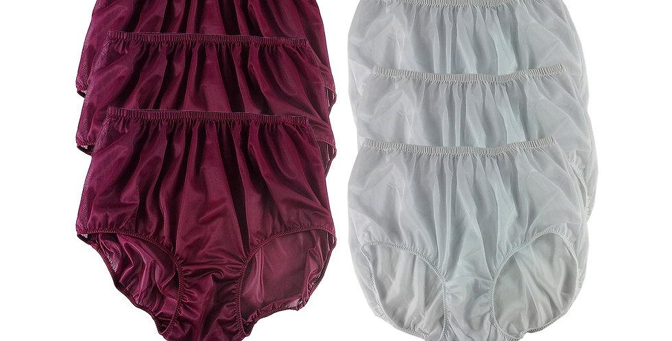 NSD67Lots 6 pcs Wholesale Women New Panties Granny Briefs Nylon Lingerie