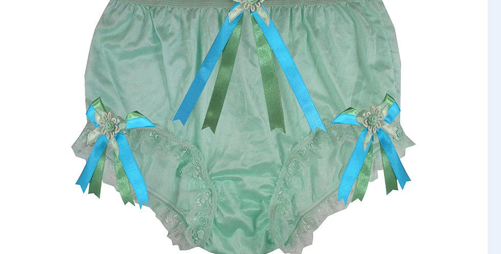 NYH18D01 Green Handmade New Panties Briefs Lace Sheer Nylon Men Women