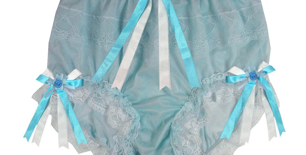 JYH22D28 Blue Handmade Nylon Panties Women Men Lace Knickers Briefs