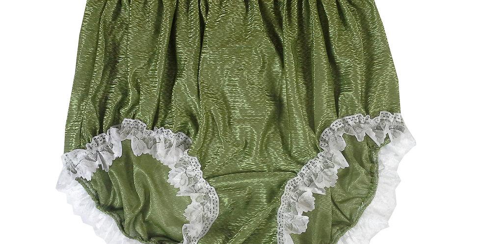 SFH24D03 Olive Green Shiny Nylon New Panties Women Men Handade Briefs