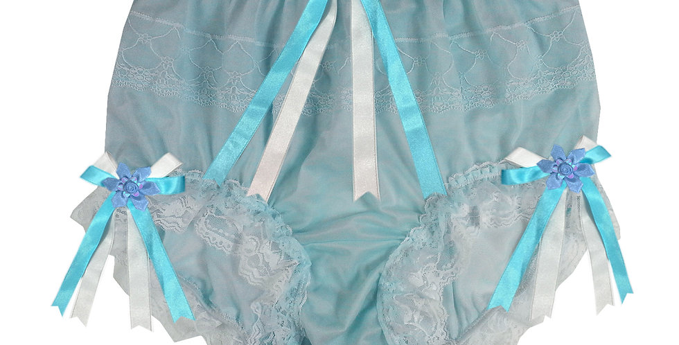 JYH22D27 Blue Handmade Nylon Panties Women Men Lace Knickers Briefs