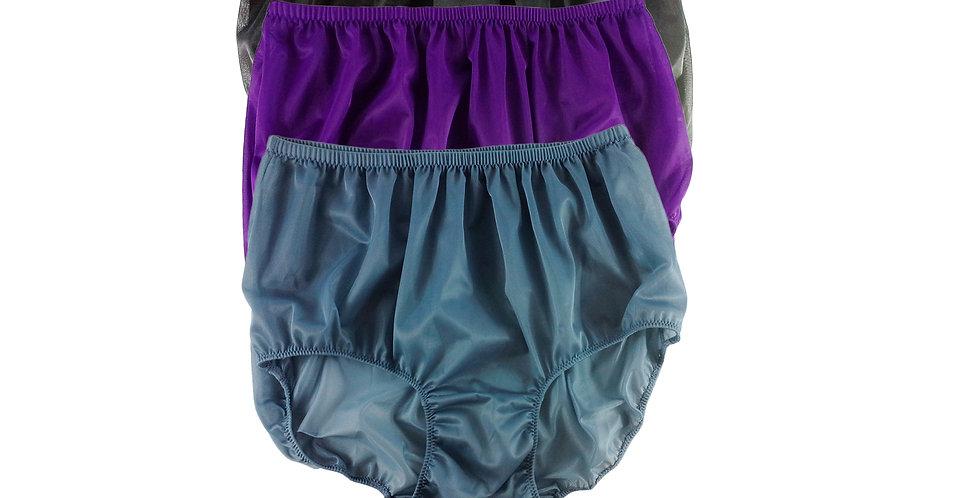 A46 Lots 3 pcs Wholesale Women New Panties Granny Briefs Nylon Knickers