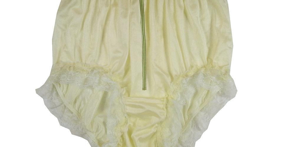 NQH23DP04 Yellow Zipper New Panties Granny Briefs Nylon Handmade Lace Men