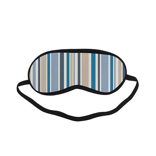 PTEM433 Dark Blue Grid pattern Eye Printed Sleeping Mas