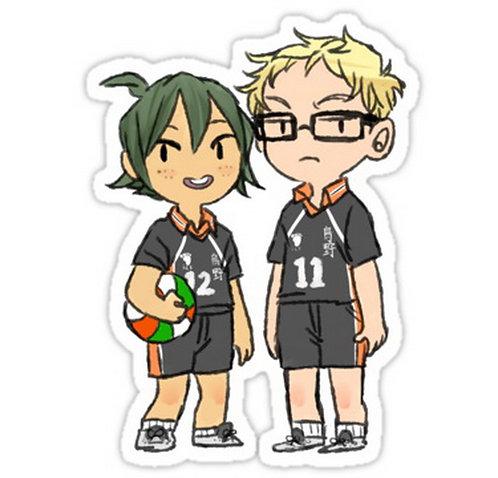 SRBB0632 Tsukishima and Yamaguchi - HQ!! anime sticker