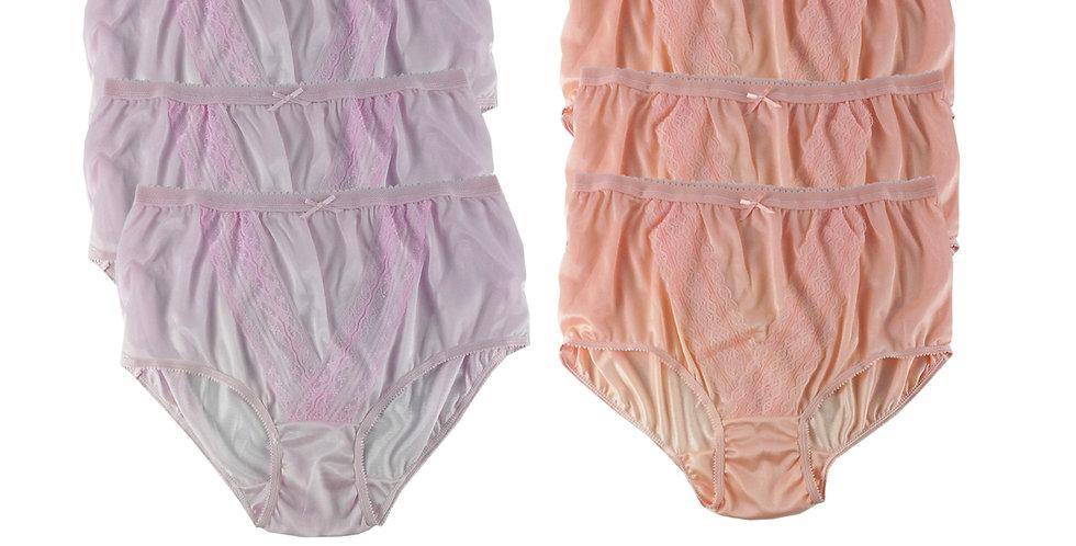 NLSG13 Lots 6 pcs Wholesale New Panties Granny Briefs Nylon Men Women
