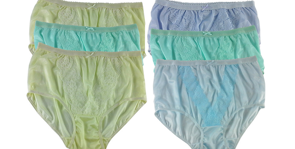 NLSG51 Lots 6 pcs Wholesale New Panties Granny Briefs Nylon Men Women