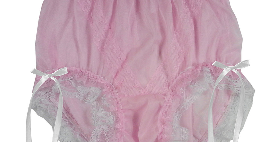 SSH21D16 Pink Handmade Nylon Panties Lace Women Granny Men Briefs