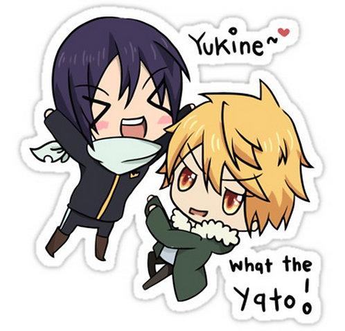SRBB0016 Yato & Yukine Chibi Noragami Anime Car Window Decal Sticker