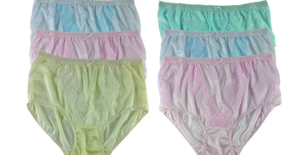 NLSG103 Lots 6 pcs Wholesale New Panties Granny Briefs Nylon Men Women